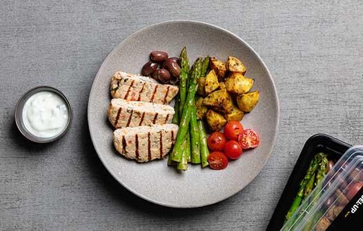 FU_Sig_Greek_Chicken_Burger_RoatPotato_Asparagus